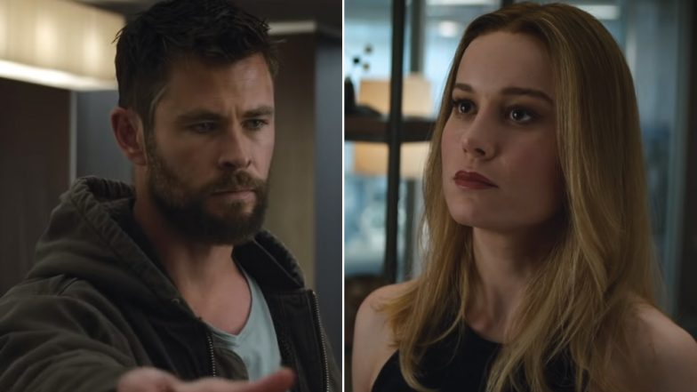 Avengers: Endgame New Trailer - Chris Hemsworth's Thor is Hitting on Brie Larson's Captain Marvel and We Are Totally Loving It (Watch Video)
