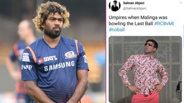 Umpire Denies No-Ball by Lasith Malinga During RCB vs MI VIVO IPL 2019 Match: Funny Twitter Reactions on the Last Ball Will Leave You ROFL