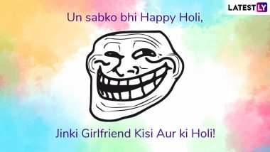 Holi 2019 Jokes and Funny Memes: Send These Hilarious Images & WhatsApp Stickers to Spread Some Laughter During Festival of Colour