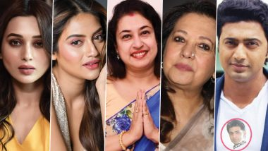 TMC Fields Tollywood Actors Mimi Chakroborty, Nusrat Jahan and Others For Lok Sabha Elections 2019; Here's Full List of Glamorous Cine Stars Contesting in West Bengal