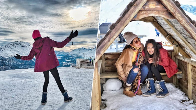 From Nailing SRK's Pose To Sleigh Rides, Erica Fernandes and Surbhi Chandna are Having Fun In The Swiss Alps -  See Pics!