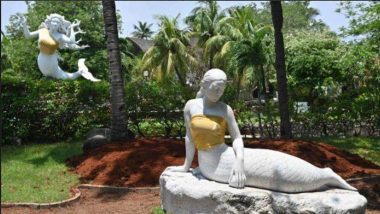 Breasts of Mermaid Statues Covered Up With Golden 'Crop Tops' at an Indonesian Theme Park (View Pictures)
