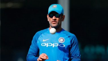 MS Dhoni Obliges Fan With an Autograph on His Bike (Watch Video)