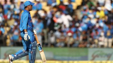 MS Dhoni Dismissed for a Duck for the First Time in Nine Years At Home During India vs Australia, 2nd ODI 2019