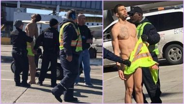 Naked Passenger Walks Onto Tarmac at Chicago's O'Hare International Airport (Watch Viral Video)