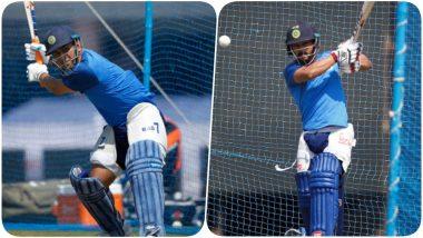 MS Dhoni, Kedar Jadhav & Others Hit the Nets at JSCA Ahead of India vs Australia, 3rd ODI 2019 (See Pics & Video)