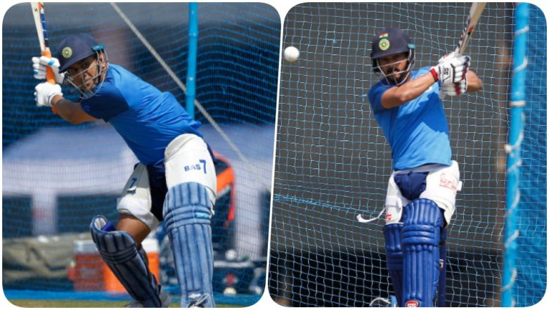 MS Dhoni, Kedar Jadhav & Others Hit the Nets at JSCA Ahead of India vs Australia, 3rd ODI 2019 (See Pics & Video)