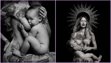 Domestic Violence Survivor Breastfeeds Toddler While Posing Nude As Virgin Mary Ahead of International Women's Day 2019; View Pictures of Photoshoot