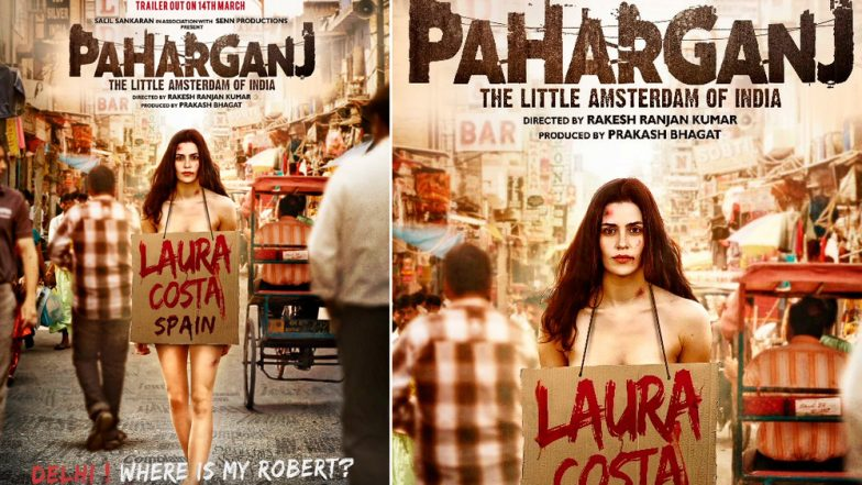 Paharganj Poster: Spanish actress Lorena Franco is Roaming Bare Naked on the Streets of Delhi to Find her Lost Love
