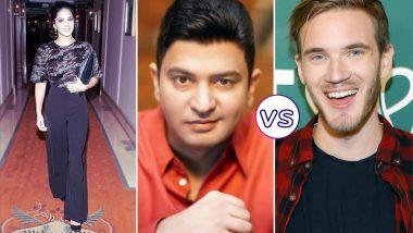 PewDiePie vs T-series: Sunny Leone Supports Bhushan Kumar's Music Company Over Swedish YouTuber Felix Arvid Ulf Kjellberg (Watch Video)