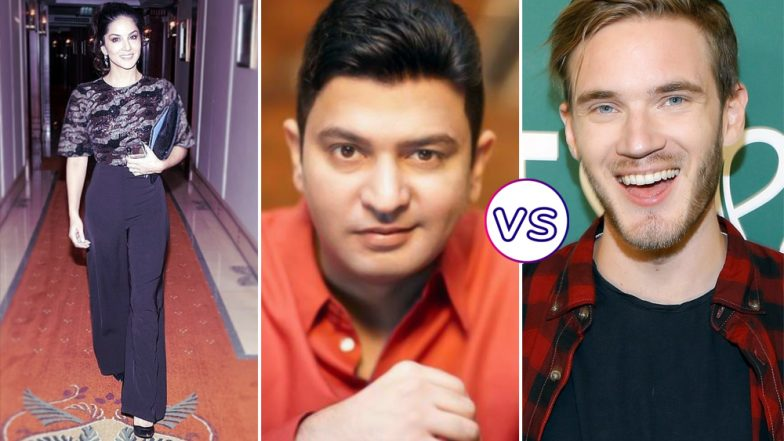 PewDiePie vs T-series: Sunny Leone Supports Bhushan Kumar's Music Company Over Swedish YouTuber Felix Arvid Ulf Kjellberg (Watch Video)