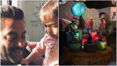 Salman Khan's Nephew Ahil Sharma Turns 3! Batman Becomes an Avenger on the Superhero-Themed Birthday Cake for the Toddler – Watch Video