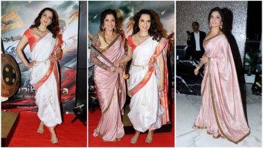 Kangana Ranaut and Ankita Lokhande Look As Regal As Ever at Manikarnika: The Queen of Jhansi Success Bash - View Pics
