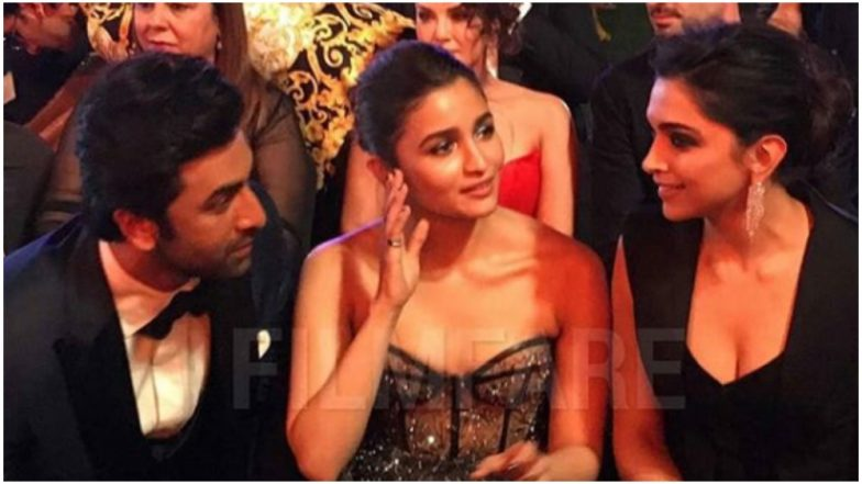 64th Vimal Filmfare Awards: We So Want to Be a Part of This Deepika Padukone, Ranbir Kapoor and Alia Bhatt's Intriguing Conversation - View Pic