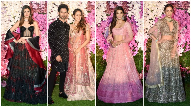 Akash Ambani - Shloka Mehta Wedding Reception Best Dressed: Malaika Arora, Kriti Sanon and Shahid Kapoor Dazzle in Their #OOTNs