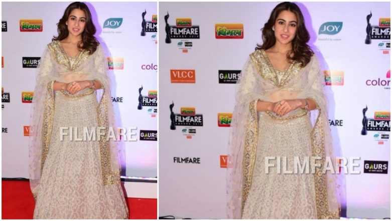 64th Vimal Filmfare Awards: Sara Ali Khan Looks Like an Ethereal Diva at the Red Carpet of the Prestigious Award Show