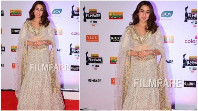 64th Vimal Filmfare Awards: Sara Ali Khan Looks Like an Ethereal Diva at the Red Carpet of the Prestigious Award Show