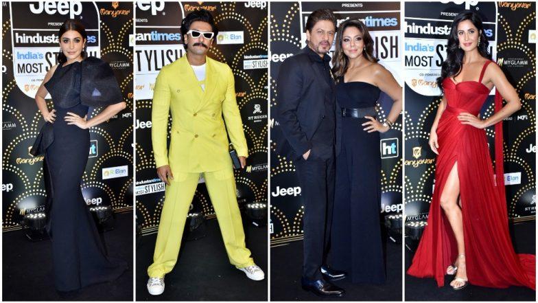 HT India's Most Stylish Awards 2019 Best Dressed: SRK - Gauri, Anushka Sharma, Ranveer Singh, Katrina Kaif Nail their Black Carpet Outings - View Pics