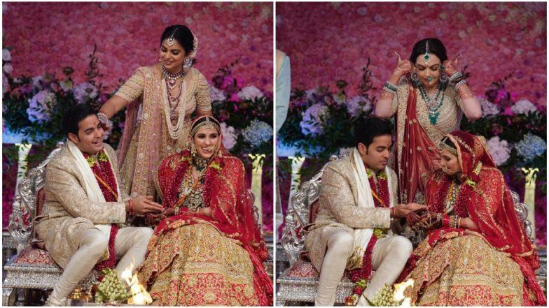 Akash Ambani - Shloka Mehta Wedding First Pics Out! The Couple Looks Adorable with Nita and Isha Ambani
