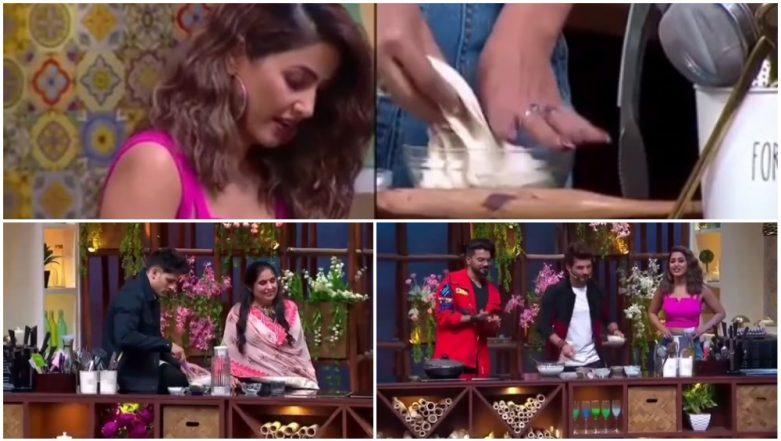 Hina Khan Gets Trolled by BFF Priyank Sharma and Host Arjun Bijlani on Kitchen Champion, Here's Why!