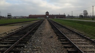 Auschwitz Museum Urges Vistors to Stop Balancing on Railway Tracks For Photos And Respect The Historical Site