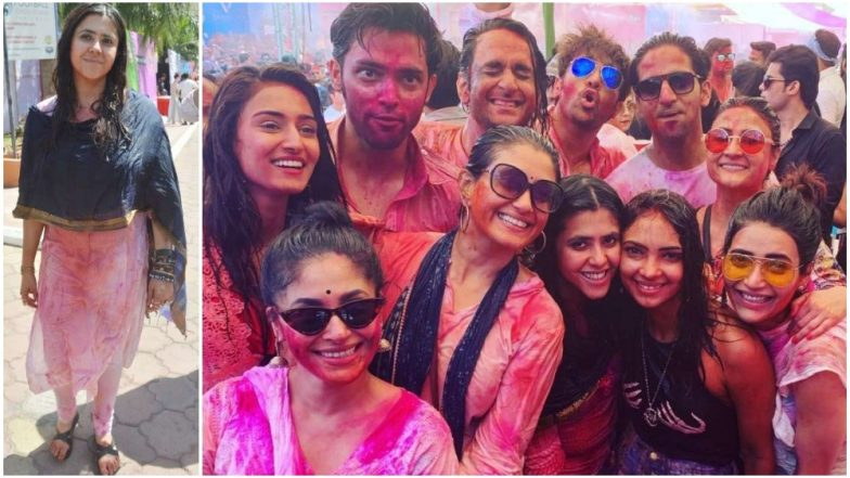Erica Fernandes, Divyanka Tripathi, Parth Samthaan, Vikas Gupta Make a Splash at Ekta Kapoor's Holi Party – View Pics