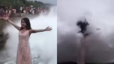 Woman Hit by Giant Wave in Bali While Posing for Photo in Front of Sea (Watch Video)