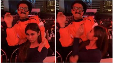 64th Vimal Filmfare Awards 2019: Ranveer Singh's Boomerang With Brahmastra Actress Mouni Roy Is Something You Can't Afford to Miss – Watch Video