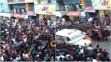 Large Crowd Dancing at a Festival in Kerala's Palakkad Promptly Makes Way for Ambulance to Pass; Netizens Impressed (Watch Video)