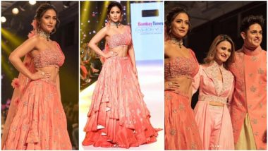Hina Khan Sets the Ramp on Fire With Buddy Priyank Sharma at Bombay Times Fashion Week 2019 - View Pics