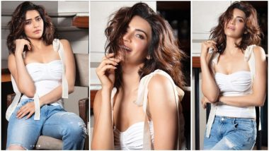 Naagin 3 Actress Karishma Tanna Pulls-Off Rugged Jeans and Plunging Neckline Top With Aplomb – View Pics