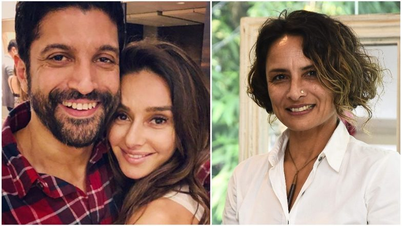 No Cold Shoulders Please! Farhan Akhtar's Ex-Wife, Adhuna Bhabani and Current Girlfriend, Shibani Dandekar Seem to Share a Cordial Bond - Watch Video