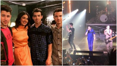 Priyanka Chopra Attends Her First Jonas Brothers Concert in Atlanta, Actress Cheers the Terrific Trio – Nick, Kevin and Joe! See Pics, Videos