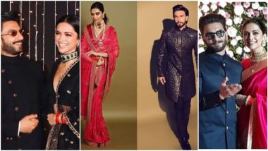 #DeepVeer Forever! 3 Times When Ranveer Singh and Deepika Padukone Attended Others' Wedding and Receptions As a Married Couple – View Pics