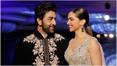 Ranbir Kapoor and Deepika Padukone Share a Friendly Kiss and a Warm Hug – See Pics