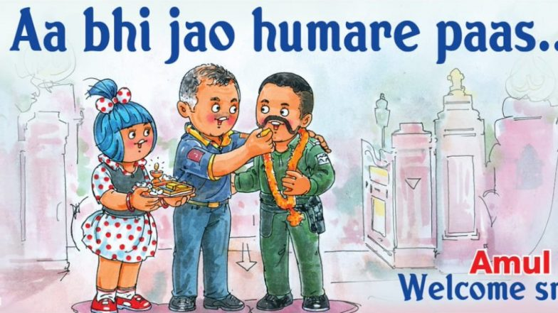 Amul Welcomes IAF Wing Commander Abhinandan Varthaman With a Beautiful Doodle
