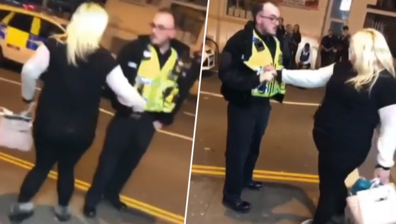 """""""Arrest Me With Your C**k!"""" Drunk Wales Woman Tries to Twerk on a Police Officer (Watch Viral Video)"""