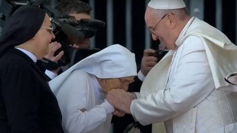 Pope Francis Allows Worshipers Kiss His Papal Ring After Viral Video Controversy (Watch Clip)
