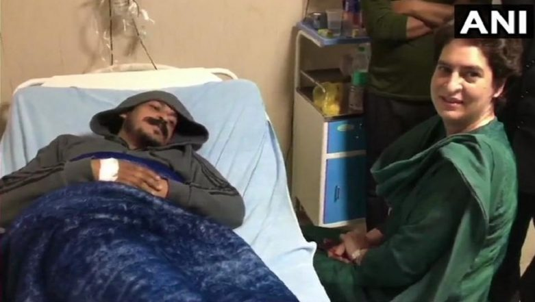 Priyanka Gandhi, Jyotiraditya Scindia Meet Bhim Army Chief Chandrashekhar Azad, Admitted in Meerut Hospital