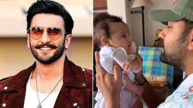 'Ek Number': Ranveer Singh Reacts to Rohit Sharma Rapping a Gully Boy Song for His Daughter Samaira
