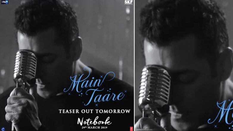 Salman Khan Is Singing Again! New Song Main Taare from Notebook to Be Out Soon – See First Pic
