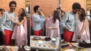 Sara Ali Khan Embarrasses Kartik Aaryan by Screaming Out His Name in Public – Watch Video