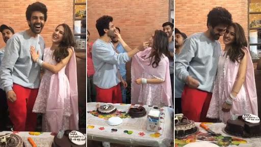 Sara Ali Khan Embarrasses Kartik Aaryan by Screaming Out His Name in Public – Watch Video