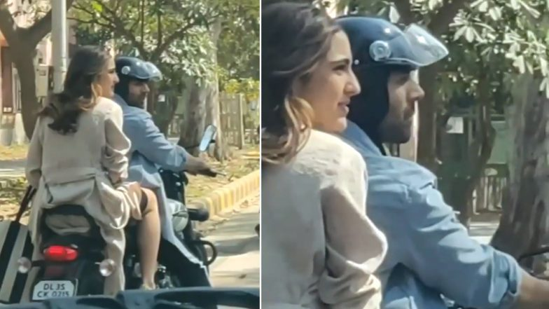 Sara Ali Khan and Kartik Aaryan Go On A Bike Ride during Love Aajkal 2 Shoot - Watch Video!