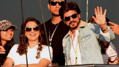 IPL 2019: Juhi Chawla and Shah Rukh Khan Enjoy the KKR VS SRH Match at Eden Gardens – Watch Video