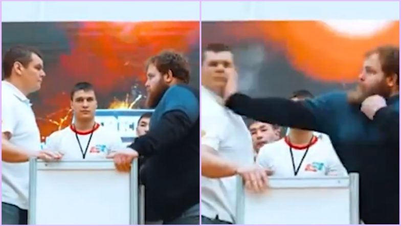Russia Hosts 'Male Slapping Championship' With Men Hitting Each Other Hard AF; Watch Viral Videos of the Bizarre Competition