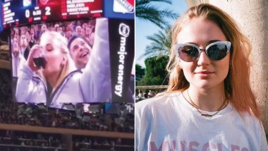 Game Of Thrones Star Sophie Turner Chugging Wine At the New York Rangers Game Is Proof That She's The Coolest Stark ( Watch Video)