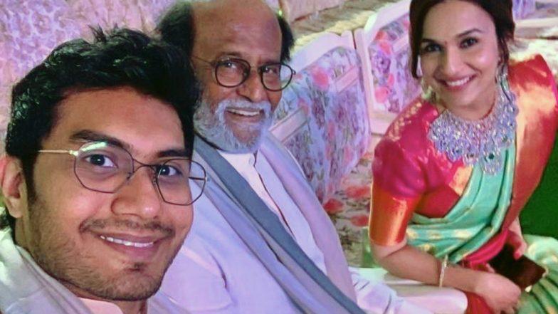Rajinikanth, Soundarya and Vishagan Make a Terrific Trio at the Akash Ambani – Shloka Mehta's Wedding Celebration! See Pic