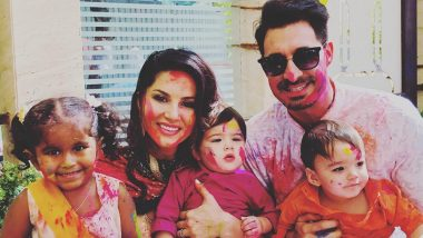 Sunny Leone's Holi Special Pic With Family Shows How She Loves and Enjoys The Festival Of Colours!