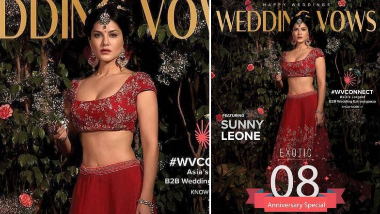 Sunny Leone is a Gorgeous Bride in Red on Her New Magazine Cover - View Pic